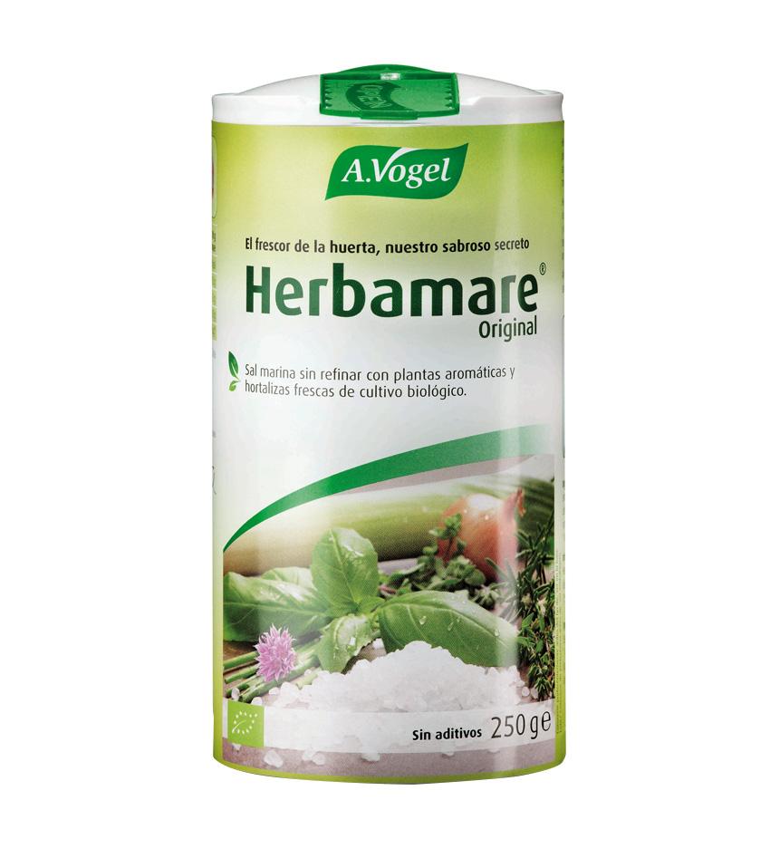Sal marina con plantas aromáticas y hortalizas frescas.