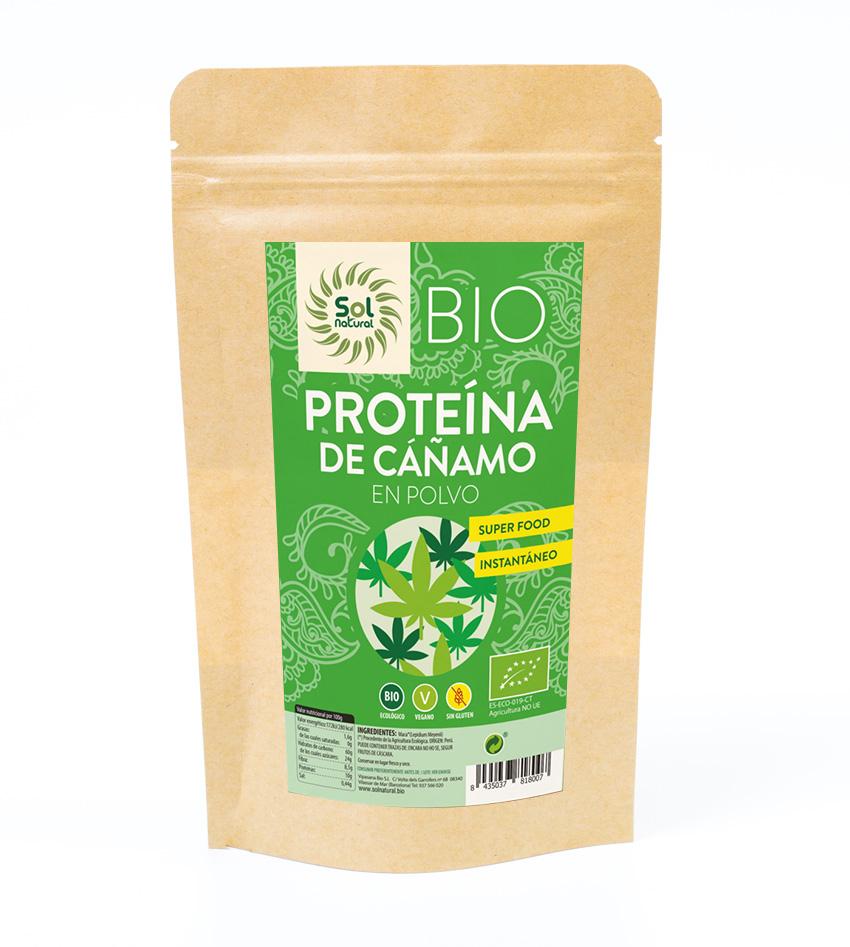proteína de cáñamo en polvo de sol natural