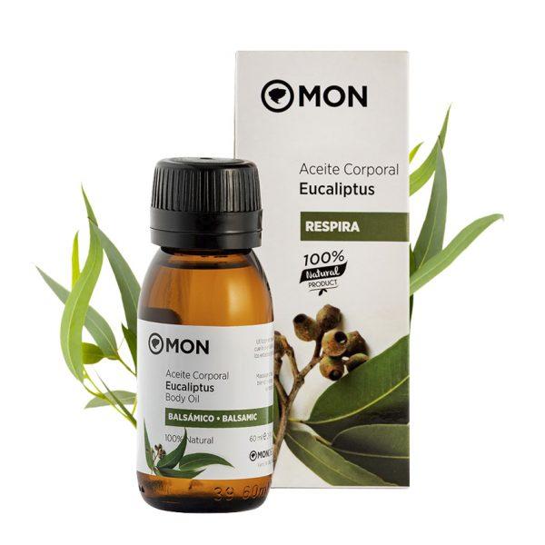 Aceite Corporal Eucaliptus Respira Balsámico 60ml Mon