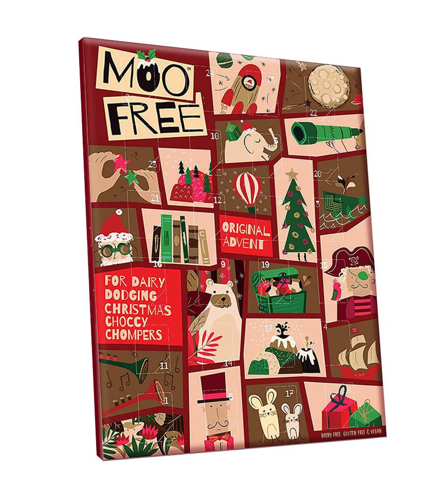 Calendario de Adviento Ecológico Sin Gluten Vegano - 70g - Moo Free