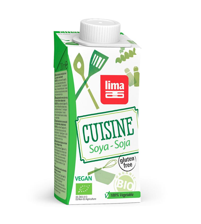 Cuisine Soya Lima crema liquida de cocinar vegana de soja