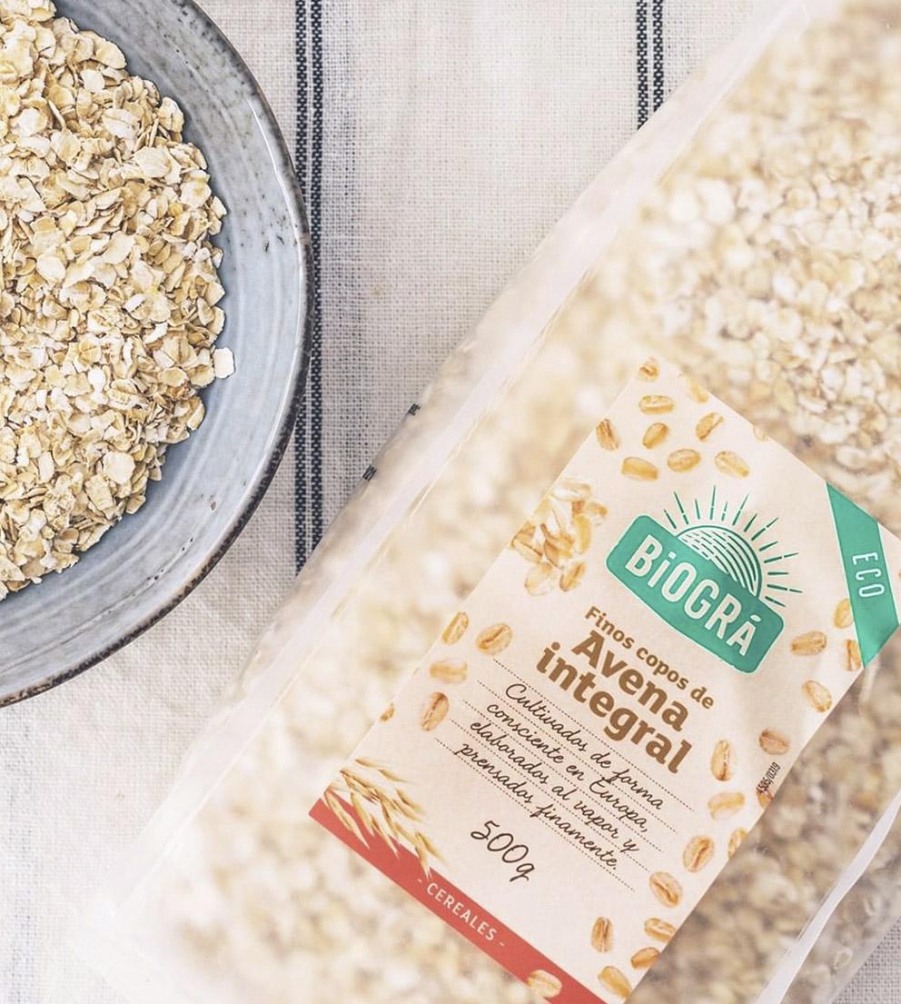 Finos copos de Avena integral Biográ ECO cereales