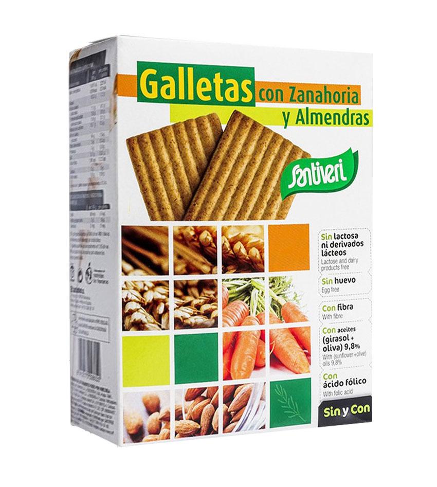 Galletas con Zanahoria y Almendras Veganas Santiveri