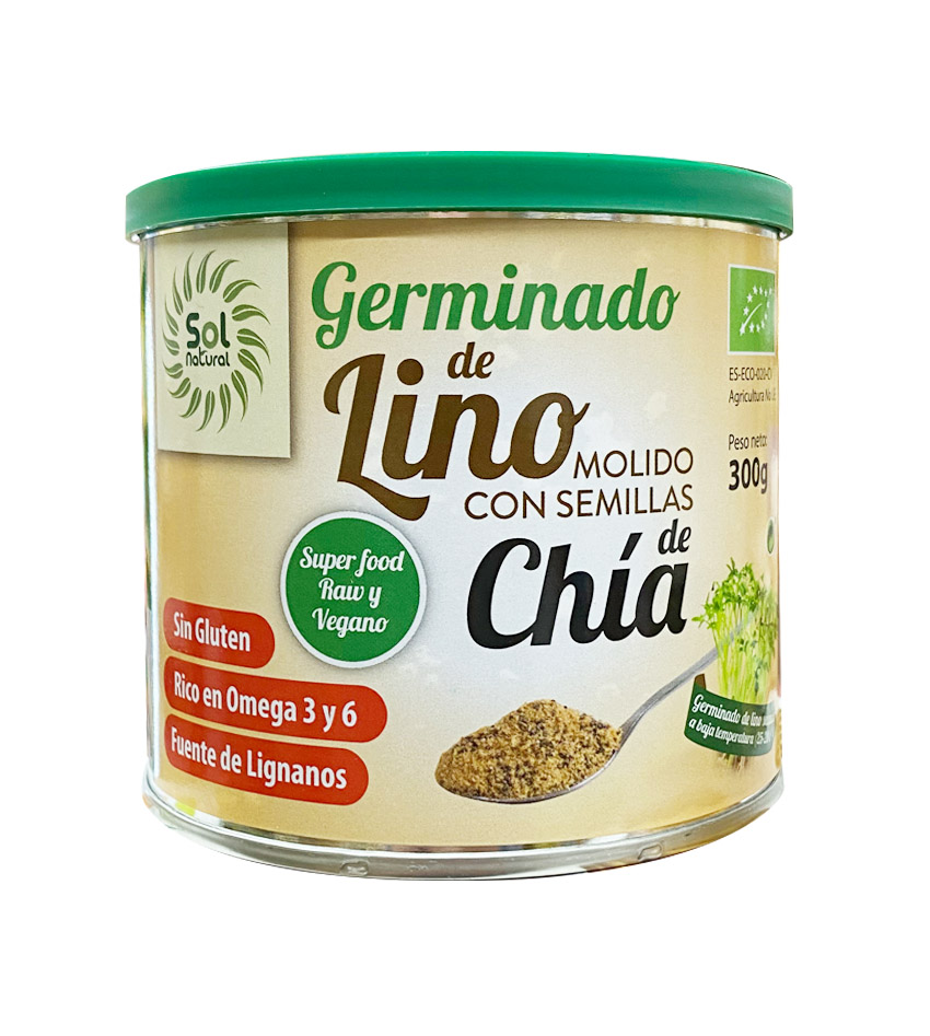 Germinado de Lino molido con semillas de Chía 300g