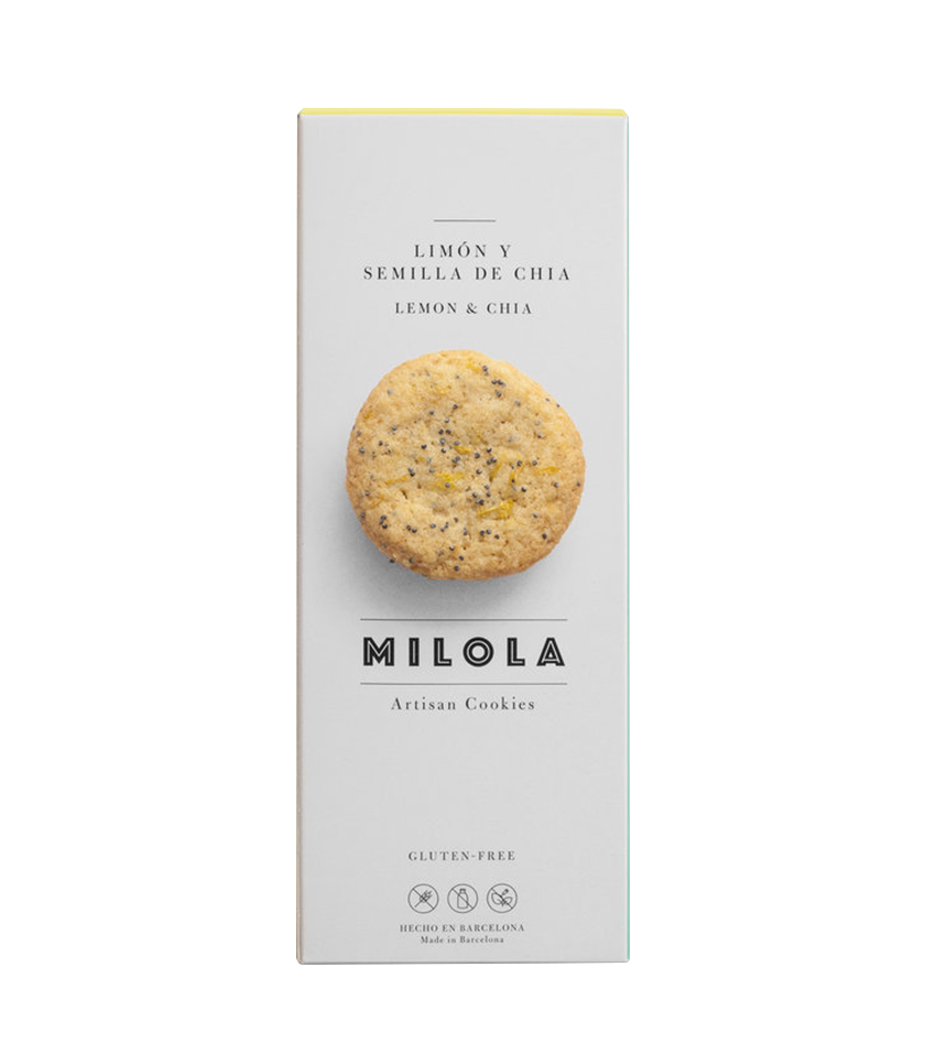Galletas artesanas de limón y semillas de chia sin gluten Milola