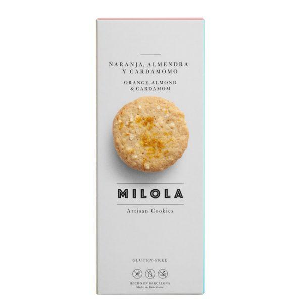 Artesanas galletas de naranaja, almendra y cardamomo sin gluten Milola