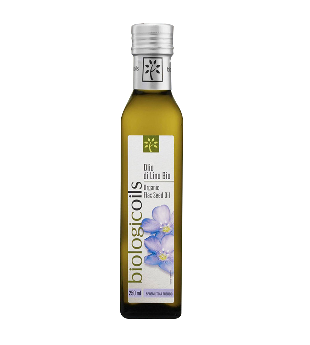 Aceite de lino orgánico italiano certificado