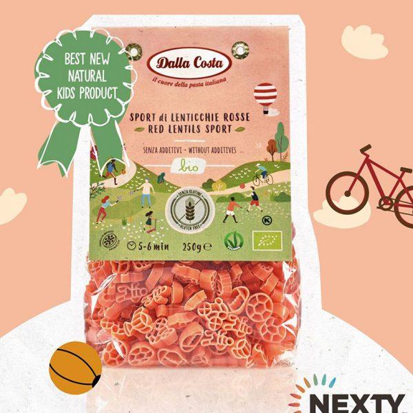 Pasta de lentejas rojas orgánicas Best New Natural Kids awards Dalla Costa