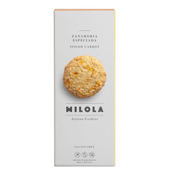 Artesanas Galletas de zanahoria especiada sin gluten Milola