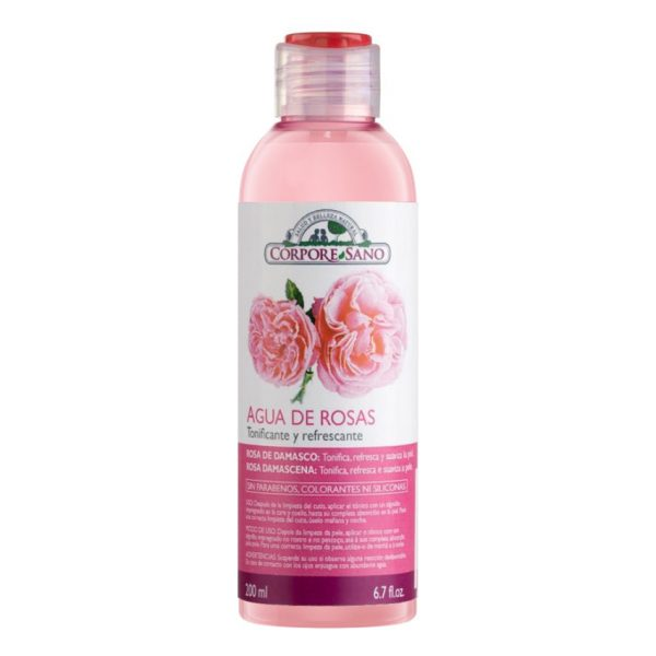 Agua de Rosas 200ml Corpore Sano Tonificante