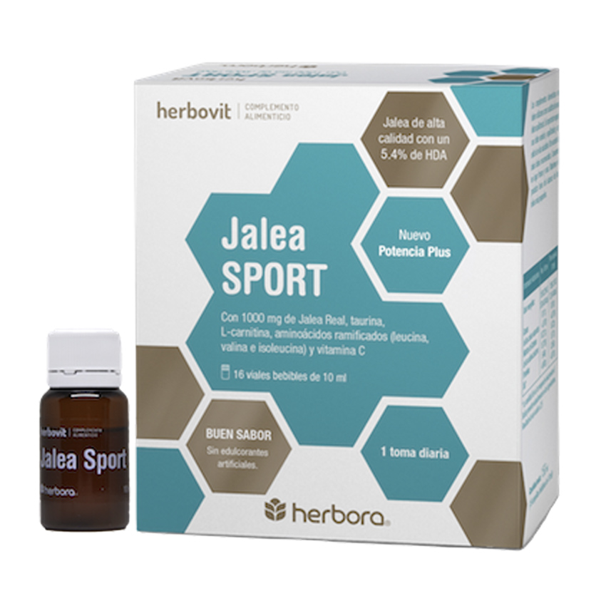 2x1 Jalea Sport 16+16 Ampollas Bebibles x 10 ml Herbora Herbovit