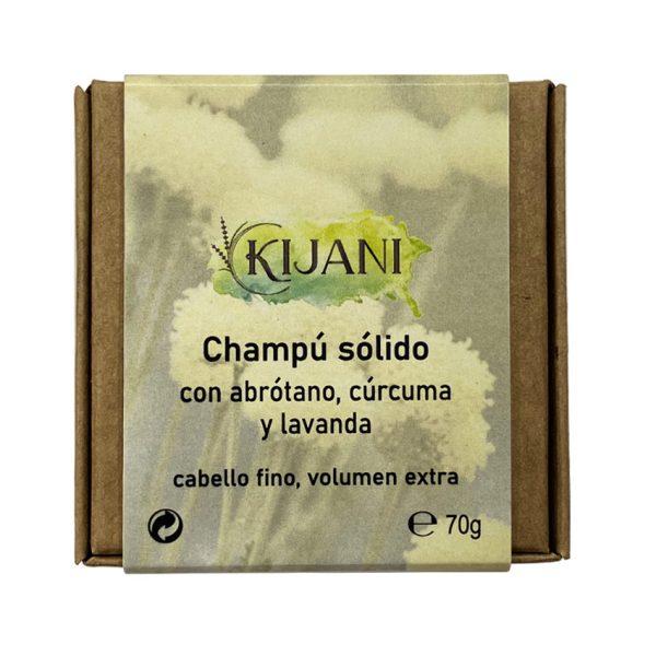 Champú Sólido con abrótano, cúrcuma y lavanda 70g Kijani