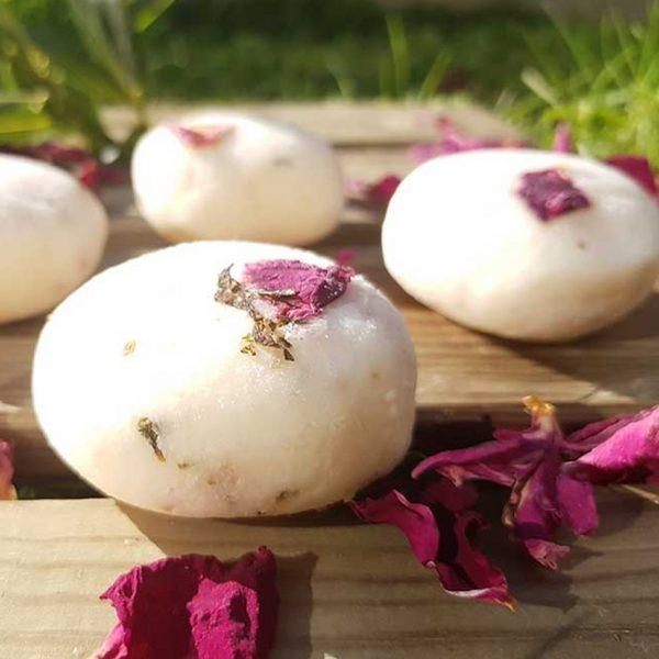 Champú Sólido con leche de cabra rosa menta Kijani