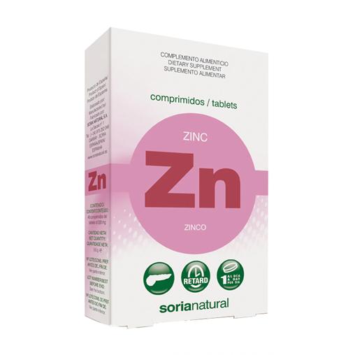 Zinc Comprimidos efecto Retard Soria Natural