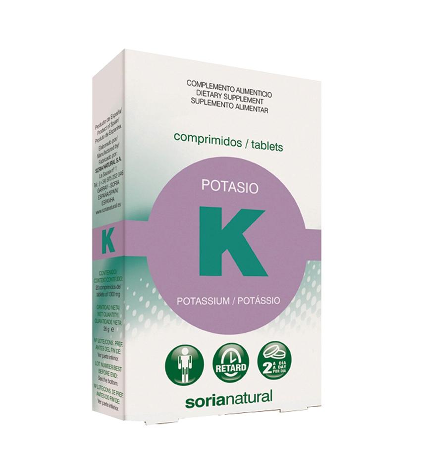 Citrato de potasio 20 comprimidos de 1300 mg Soria Natural