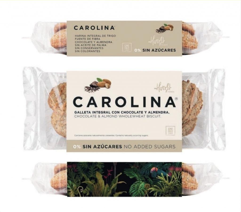 Galleta Sin Azúcares Artesana Integral con Chocolate y Almendra Carolina