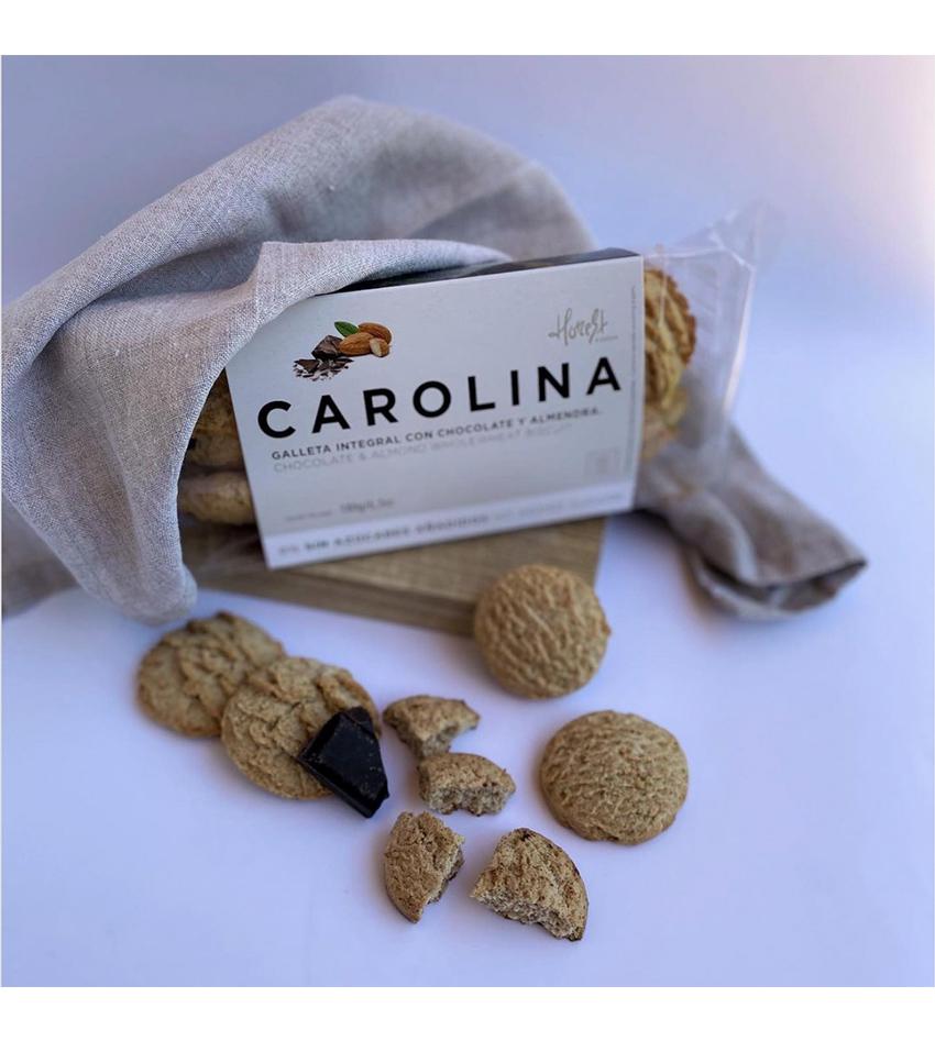 Galleta Sin Azúcares Artesana Integral con Chocolate Almendra Carolina