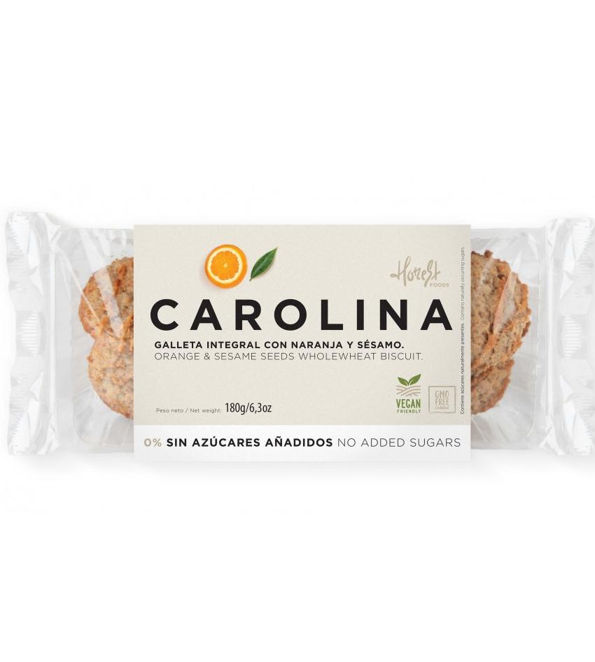Galleta Sin Azúcares Integral Artesana con Mermelada de Naranja y Sésamo Carolina