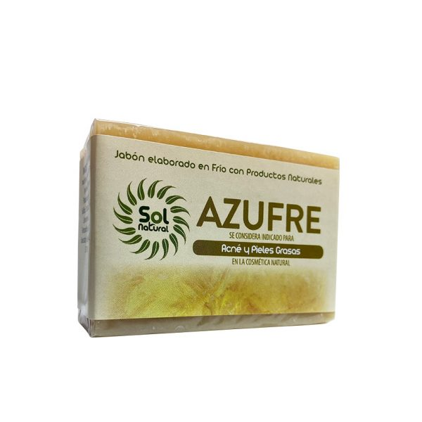 Jabon Natural De Azufre 100 Gr Sol Natural